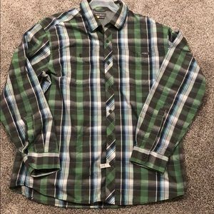 Eddie Bauer casual button down dress shirt sz L